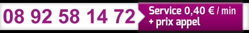 Notre numéro audiotel sans cb 08 92 58 14 72